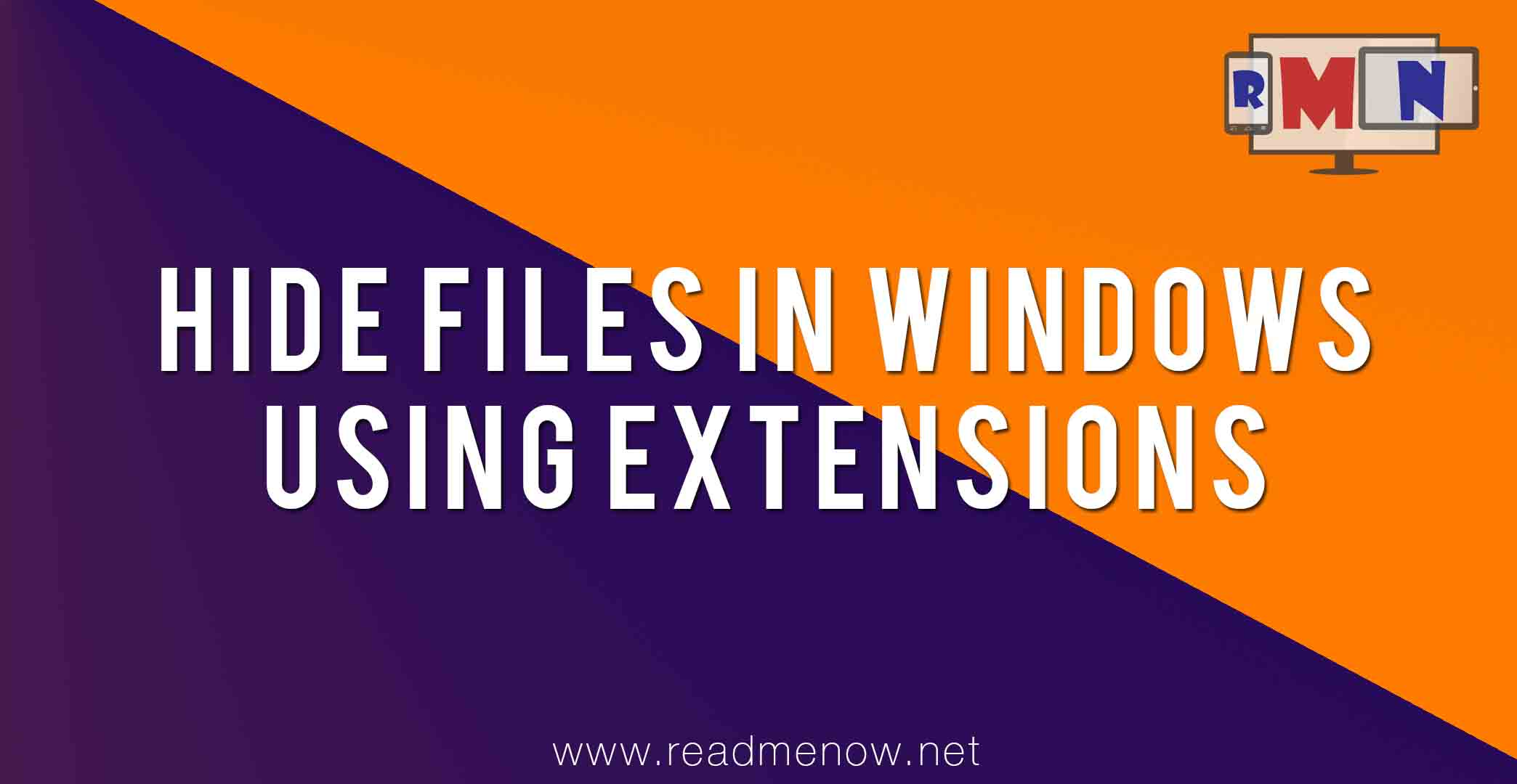 Hide files in windows using file extensions