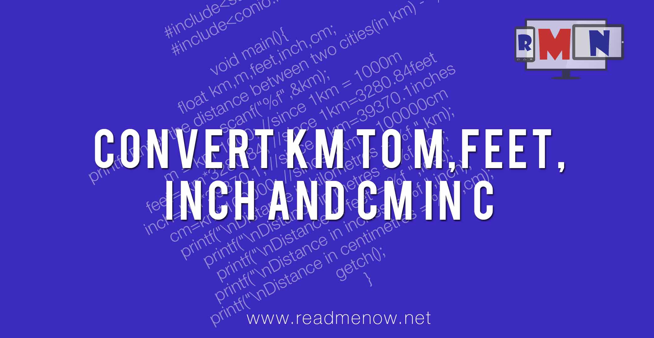 Convert km to mfeetinch and cm in c readmenow nvjuhfo Choice Image