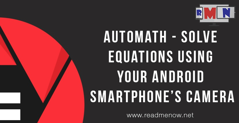 AutoMath – Solve equations using your Android smartphone's camera