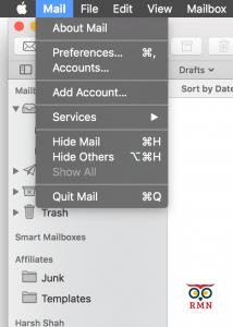 Apple Mail Add New Account