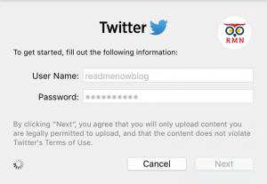 Twitter Login macOS