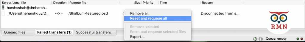 Reset and Requeue all