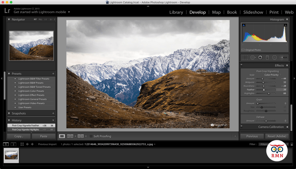 Add Vignette Highlights Lightroom