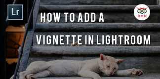 How to add vignette lightroom