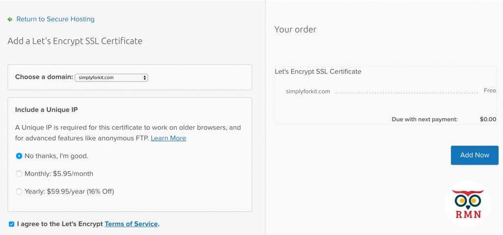 free ssl certificate lets encrypt